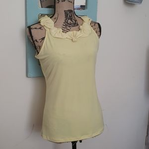 The Limited Yellow Top with Fan Like Collar